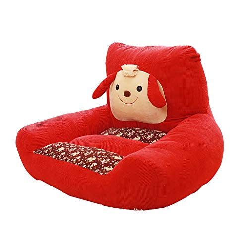 Animals Kids Sofa,Soft Comfortable Beanbag Boy Girl Armrest Chair Mini Couch 5 Colors (Color : Burgundy)