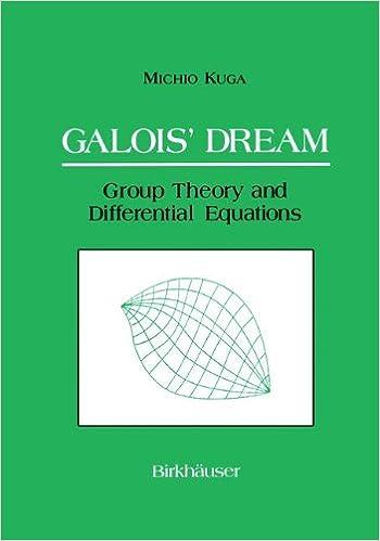galois dream group theory and differential equations kuga michio addington susan mulase motohico