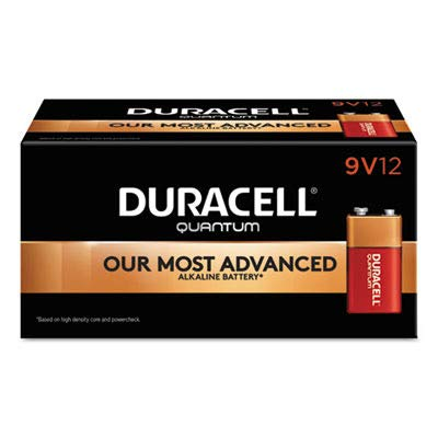 Quantum Alkaline Batteries with Duralock Power Preserve Technology, 9V, 12/Box, Sold as 1 Box by Duracell (Image #1)