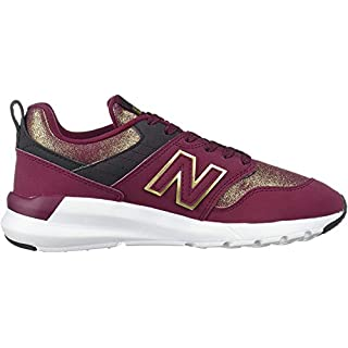 New Balance Women's 009 V1 Sneaker, Sedona/Gold Metallic/Black, 11 W US