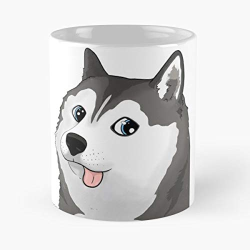Siberian Husky Snow Doge - White -coffee Mug- Unique Birthday Gift-the Best Gift For Holidays- 11 Oz. (Snow Siberian Husky)