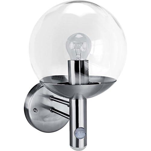 chollos oferta descuentos barato Smartwares Elro Edelstahl LED Außenleuchte mit 6m 140 Bewegungsmelder Lichtsensor IP44 RVS46LA Luz de Pared Exterior E27 60 W Cromado 6 5 x 10 5 x 12 5 cm