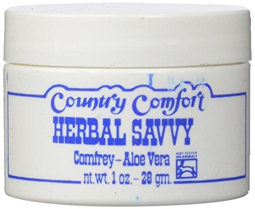 Country Comfort Herbal Savvy Comfrey, Aloe Vera, 1 Ounce