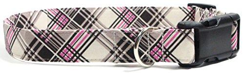 coco-plaid-pink-and-brown-designer-cotton-dog-collar-adjustable-handmade-fabric-collars-l