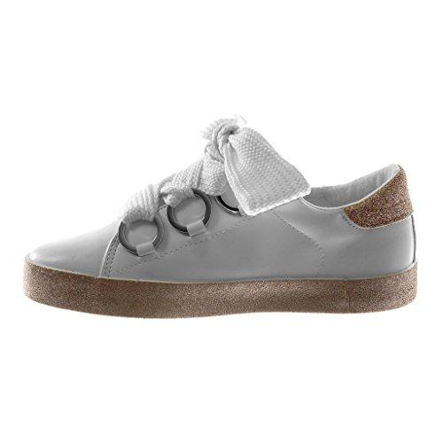 ... Angkorly Damen Schuhe Sneaker - Sporty Chic - Tennis - Plateauschuhe -  Glitzer - Glänzende ... b9a8f5f6f5
