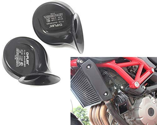 Great Upgrade For Cars or Motorcycles Pair Of Universal 12v Dual Tone 110db Air Horns