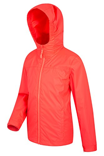 Summer Coat Rain Kids Waterproof Coral Travelling Coat Torrent Jacket for Ideal Childrens Seams Zipped Warehouse Jacket Pockets Mountain Taped Features Adjustable Summer x8CwHtq