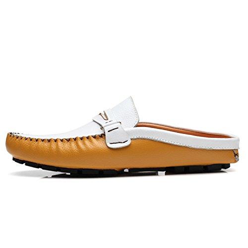 estive Shoes Half Driving Slip Scarpe Mocassini Slipper Uomo Esthesis On Giallo in Penny Loafers Pelle fxBwE7qp7