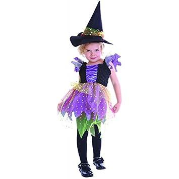 Disfraz de bruja niña - De 1 a 2 años: Amazon.es: Juguetes y juegos