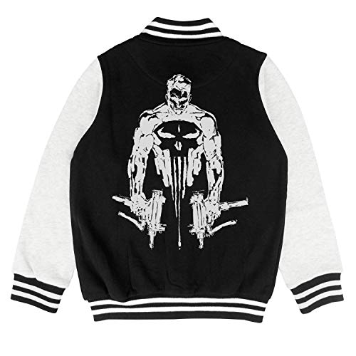 Price comparison product image Wardell Punisher-Gun-Comic- Kids Jacket Fashion Baseball Jacket for 2-10 Y