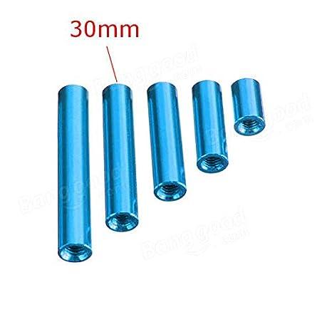 - 10X M3 Aluminum Alloy Standoffs M3AR7 Aluminum Alloy Standoff Studs 10-35mm Blue Round Board Spacers Standoffs 10pcs Fasteners Spacers /& Standoffs 25mm
