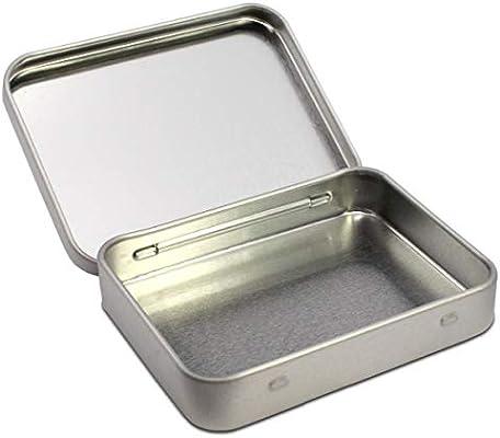Triosk - Caja de metal con tapa, 9,1 x 7,0 x 1,7 cm, cuadrada ...