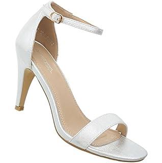 Damen Schuhe Sandaletten High Heels Pumps Stilettoabsatz Designer Mules Trend Pumps Schicke Abendschuhe Schwarz 40