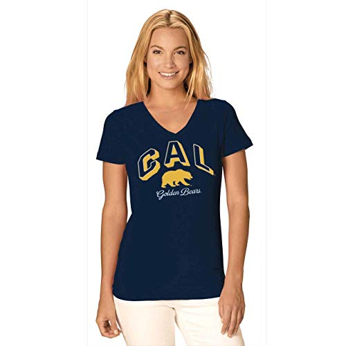 Cal Golden Bears Womens Dedicated Fan Signature Diva V-Neck - Navy, Womens Small - Cal Womens Shirts