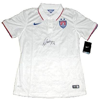 ecf632999cb Image Unavailable. Image not available for. Color: Alex Morgan Autographed  Signed Nike Team Usa White Women's Soccer Jersey - PSA/DNA Certified
