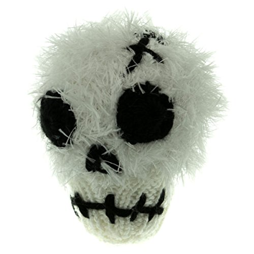 Plush Lamp (Oomaloo Skull Hand Knit Dog Toy - A Soft Plush Dog Toy With Squeaker, Perfect For Small)