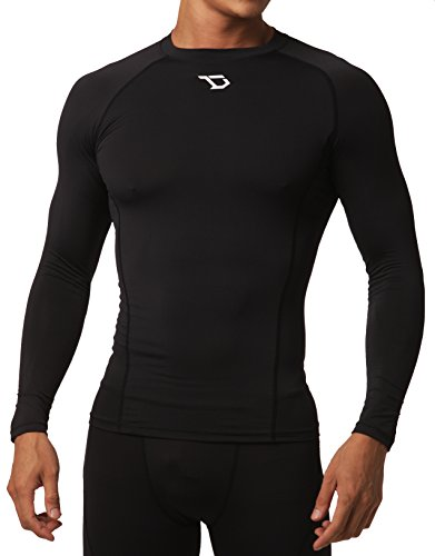 Skin Long Sleeve Compression Shirt (Defender Men's Long Sleeve T-Shirt Cool Dry Compression Soccer BB_L)