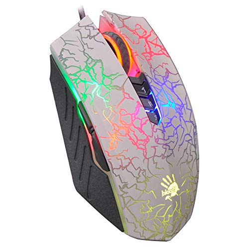 (A4TECH A60 Optical Wired Mouse,Professional Gaming 8 Button USB Cable Mice)