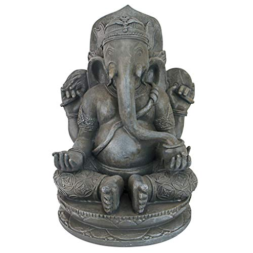 Design Toscano Sitting Lord Ganesha Hindu Elephant God Statue, 11