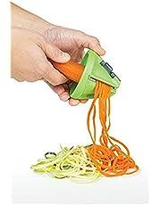 "Progressive PS-5300DP2 Prep Solutions Veggie Pasta Maker Green/Grey 4.5"" x 3.5"" x 5"""
