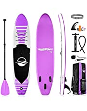 Serene Life SereneLife Premium Inflatable Stand Up Paddle Board (6 Inches Thick), Pink