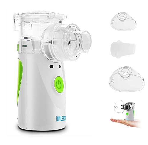 - BINLEFOIS Portable Cool Mist Vaporizer and Handheld Inhaler Machine, Adults Kids and Daily Home Use