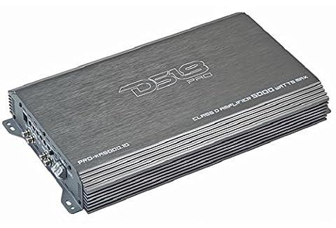 DS18 DS-PROKA5000.1D 5,000 Watts One Channel Digital Amplifier with Bass Remote (Amplifier Monoblock 5000 Watts)
