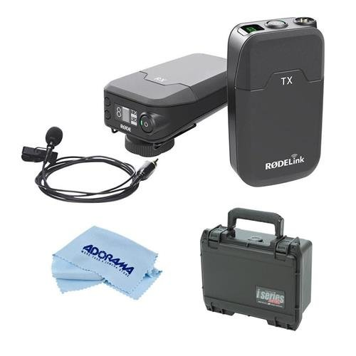 Rode Microphones RODELink Digital Wireless System for Filmmaker, Includes TX-BELT Transmitter, RX-CAM Wireless Receiver, Lavalier Mic Captive TRSCable - with SKB iSeries Rodelink Case, Cleaning Cloth by Rode