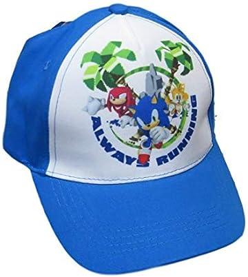 Damenmode Cute Boy Sonic The Hedgehog Cartoon Youth Adjustable Baseball Hat Cap Blue For Boys Hot Selling Cap Kids Gift Cosplay
