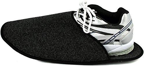 Pantoffelmann - Zapatillas de estar por casa para hombre 37 antracita