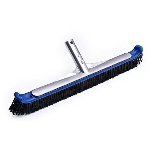 Persevere 18'' Pool Brush, Curved Cleaning Brushes for Pool Wall (Aluminum-Back) (Brush Pool Nylon)