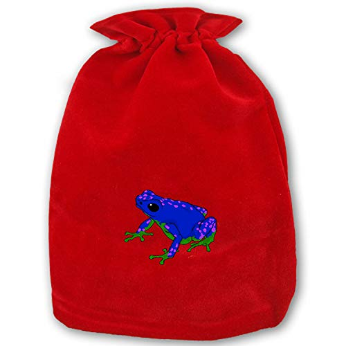 (Christmas Gift Bags Poison Dart Frog Wrapping Holiday Drawstring Gift Bags for Party Wedding,Christmas Valentine,School Classrooms and Party Favors)