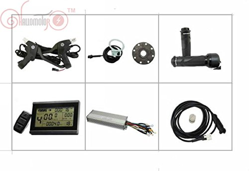 36V 48V 1000W Brushless DC Sine Wave Controller + 36V 48V LCD Control Panel + Twist Throttle +Brake Lever+PAS + Speed Sensor