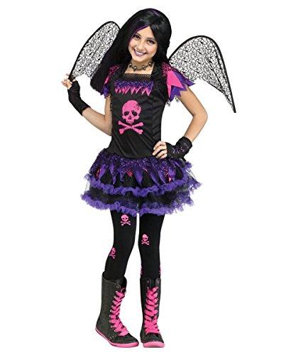 Pink Skull Fairy Child Costumes (Pink Skull Fairy Girls Halloween Costume (small))