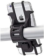 """Bovon Soporte Movil Bicicleta, Soporte Universal Manillar de Silicona para Bicicleta de montaña y Motocicleta, Soporte para iPhone X 6 7 8 Plus, Samsung Galaxy S9 S8 Plus y 4.5""""-6.0"""" Smartphones …"""