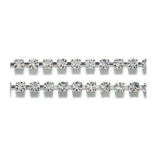 Preciosa Size SS18 Silver Crystal Rhinestone with Cup ()