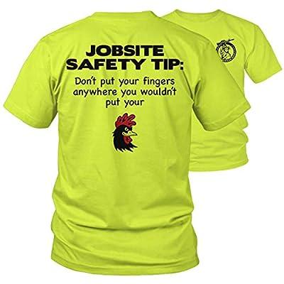 Armed American Supply Jobsite Safety - Hi Vis/Hi Viz Funny Construction Safety Work Shirt