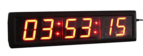 CGOLDENWALL ルームエスケープ用高さ5.8cm6ビット高精度デジタルクロック LED時計 赤いLEDタイマー  ジム、工場、オフィス、フィットネス、ゲーム、倉庫、お店用LEDタイマー B07C1ZSD59
