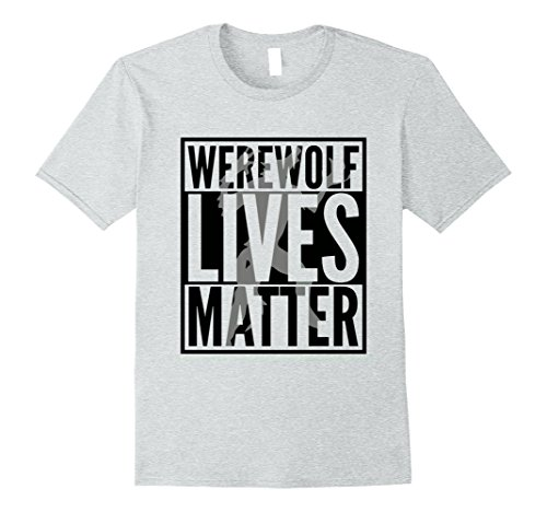 Mens Funny Halloween Costume Ideas 2017 Werewolf Shirt Medium Heather Grey (Funny Ideas For Halloween Costumes 2017)
