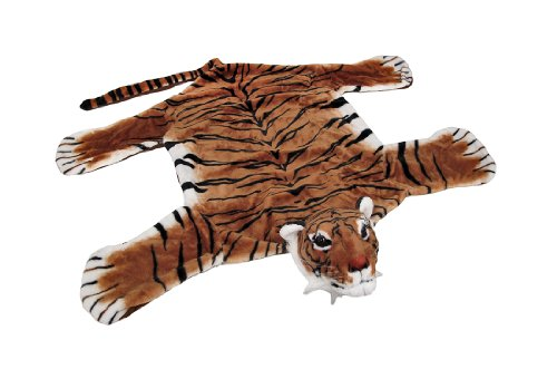 Tiger Skin Rug - Decorative Safari Plush Tiger Decorative Rug