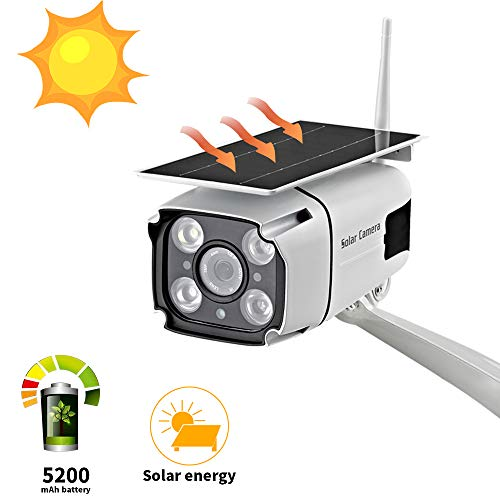 Solar Powered Security Camera, SDETER 1080P Wireless WiFi Battery Cameras, Radar Motion Detection Night Vision IP CCTV Outdoor Cam with Removable Solar Panel (Best Outdoor Night Vision Security Camera)