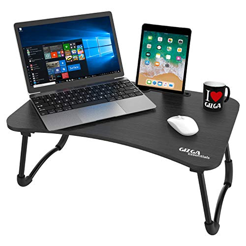 Gizga Essentials Smart Multi-Purpose Laptop Table with Dock Stand & Cup Holder| Study Table| Bed Table| Foldable…