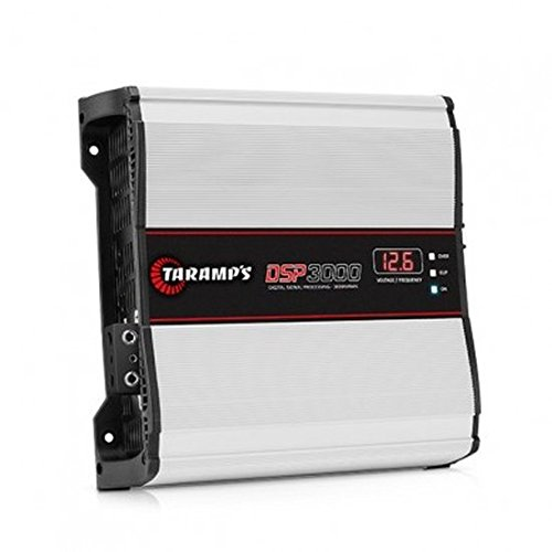 Taramps DSP 3000.1 3000 Watts-RMS Compact Car Amplifier Digital Signal Processor Full Range Monoblock 1-Ohm Stable