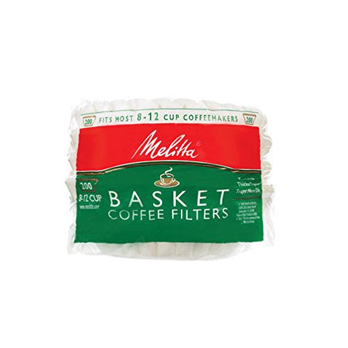 Melitta 629524 8 To 12 Cup White Coffee Basket Filters 200 Count
