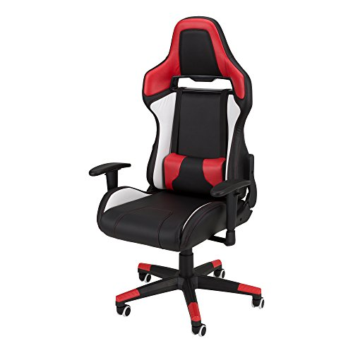 Commander - Racing-Style Gaming Chair by SkyLab Performance Seating F.C., Red/White/Black by SkyLab Performance Seating