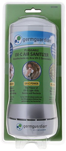 GermGuardian GG1000 Pluggable UV-C Sanitizer and Deodorizer, Kills Germs, Freshens Air and Reduces Odors from Pets, Smoke, Mold, Cooking and Laundry, Germ Guardian Air Purifier