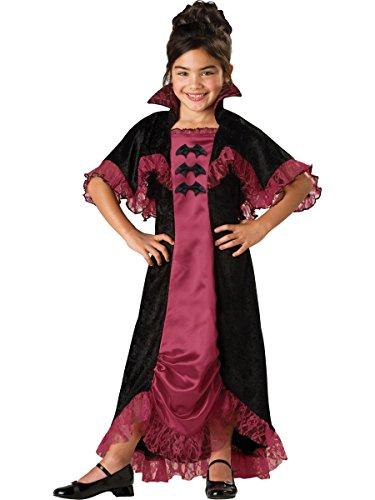 InCharacter Costumes Midnight Vampiress Costume, One Color, Size 6 - Midnight Vampiress Costume