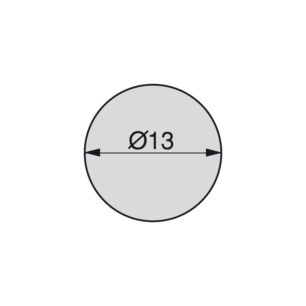 13 mm /Ø13mm Grau Emuca 4026421 Selbstklebende Abdeckungen Set je 200 St/ück