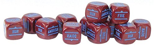 Order Dice pack - Maroon, Pack Of (Infantry Army Pack)