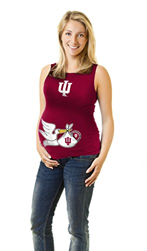 Klutch NCAA Indiana Hoosiers Women's Maternity Tank Top, Crimson, Large